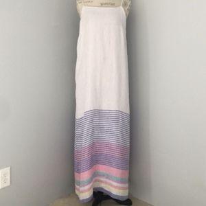 C&C California linen stripe maxi dress